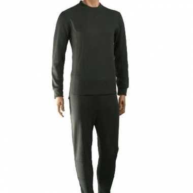 Heren  Groene thermo ondergoed set shirt