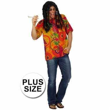 Heren grote maten hippie shirt