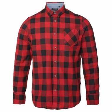 Heren houthakkers overhemd rood zwart shirt