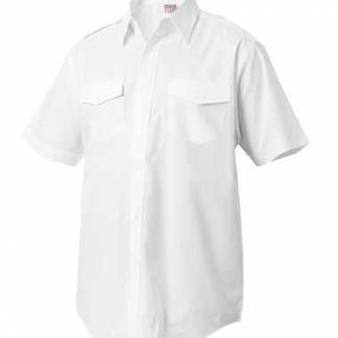 Heren kapitein overhemd korte mouw shirt