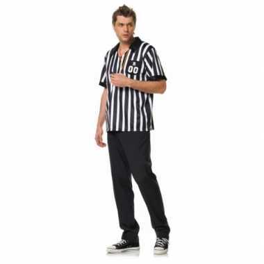 Heren leg avenue scheidsrechter outfit shirt