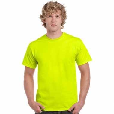 Heren  Neon geel kleurige t shirts