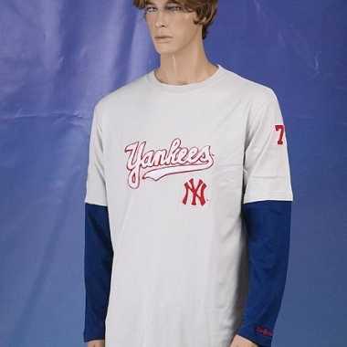 Heren  New York Yankees t-shirt lange mouw