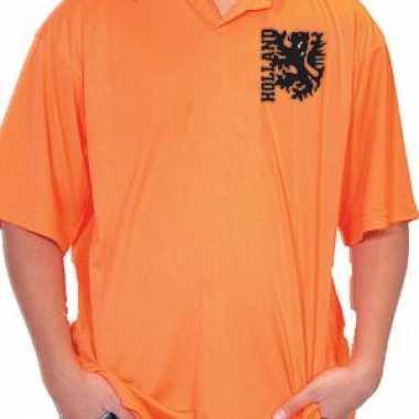 Heren oranje polo holland logo shirt