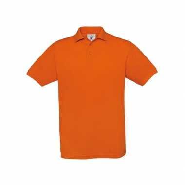 Heren  Oranje polo t-shirt korte mouw