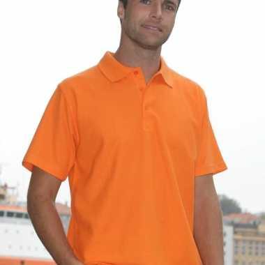 Heren poloshirt basic oranje
