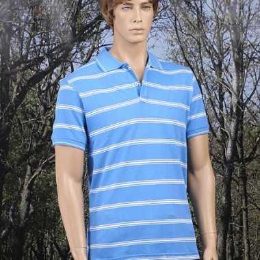 Heren  Poloshirt Milano blauw