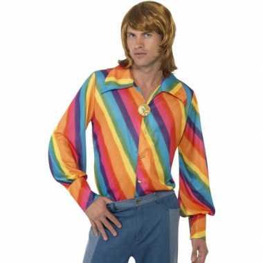 Heren regenboog s shirt