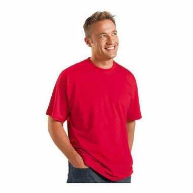 Heren rood grote maten t shirt xl