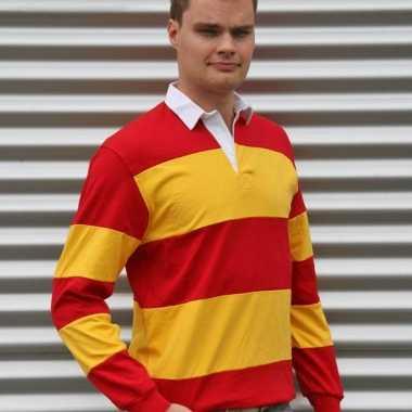 Heren  Rugbyshirt Spain rood/geel