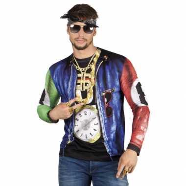 Heren shirt rapper opdruk