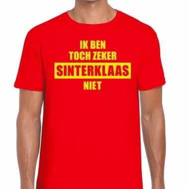 Heren sint-shirt rood ik ben toch zeker sinterklaas niet mannen