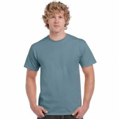 Heren t shirt stone blauw