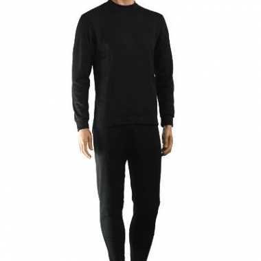 Heren  Thermo Army ondergoed zwart shirt