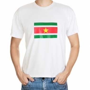 Heren wit grote maten shirt suriname