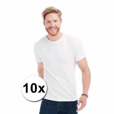 Heren x witte t-shirts ronde hals 10023349