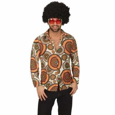 Hippie cirkel overhemd heren shirt