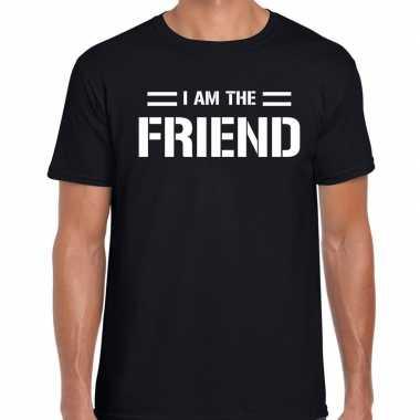 I am the friend t-shirt zwart heren
