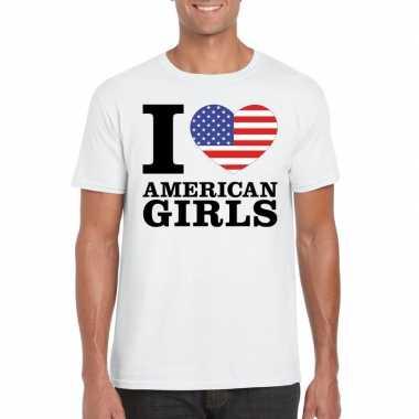 I love american girls t shirt wit heren
