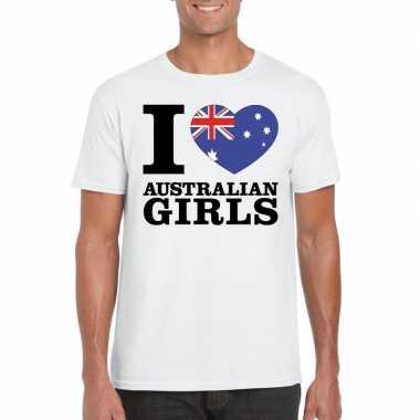 I love australian girls t shirt wit heren