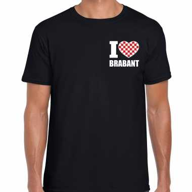 I love brabant t shirt zwart borst heren