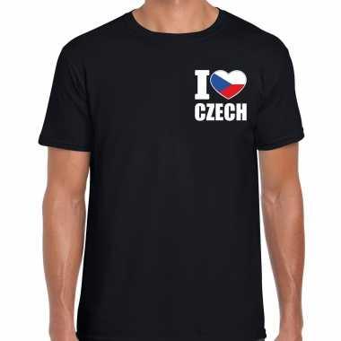 I love czech t shirt tsjechi? zwart borst heren