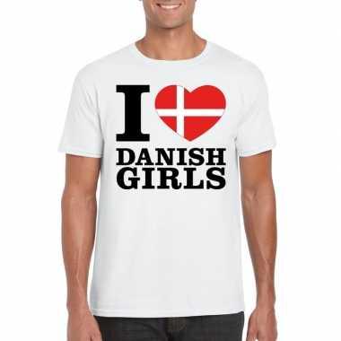 I love danish girls t shirt wit heren