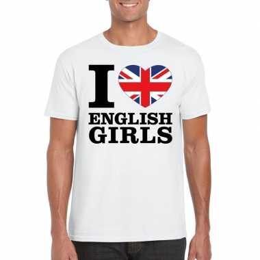 I love english girls t shirt wit heren