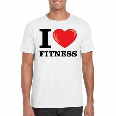 I love fitness t shirt wit heren