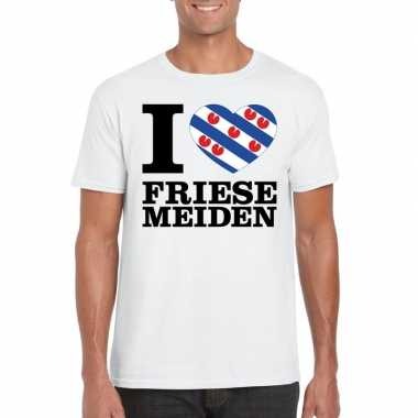 I love friese meiden t-shirt wit heren