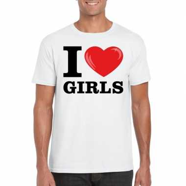 I love girls t shirt wit heren