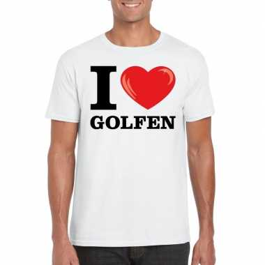 I love golfen t shirt wit heren