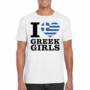 I love greek girls t shirt wit heren
