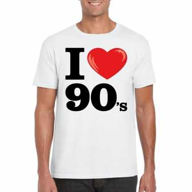 I love nineties t shirt wit heren