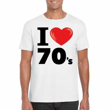I love seventies t shirt wit heren
