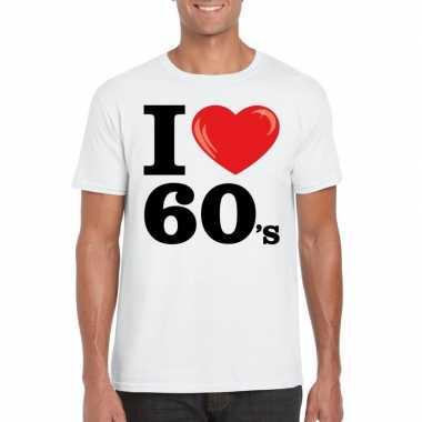 I love sixties t shirt wit heren