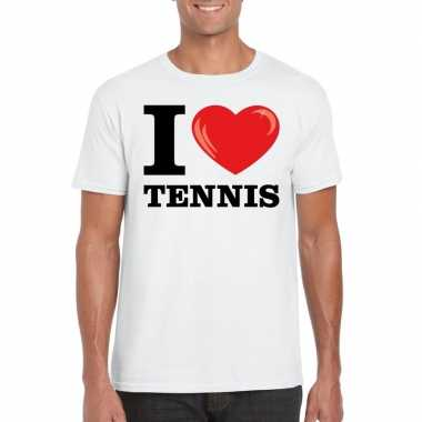 I love tennis t shirt wit heren