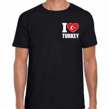 I love turkey t shirt turkije zwart borst heren