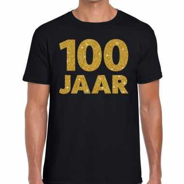 Jaar goud glitter verjaardag jubileum kado shirt zwart heren 10154640