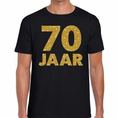Jaar goud glitter verjaardag jubileum kado shirt zwart heren 10154647
