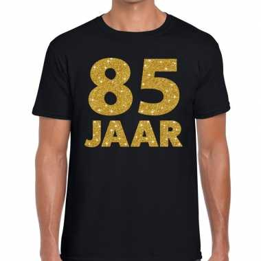 Jaar goud glitter verjaardag kado shirt zwart heren 10154649