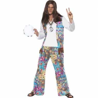Jaren hippie kostuum groovy heren shirt