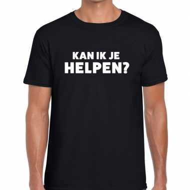 Kan ik je helpen beurs/evenementen t shirt zwart heren