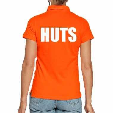 Koningsdag poloshirt huts oranje heren