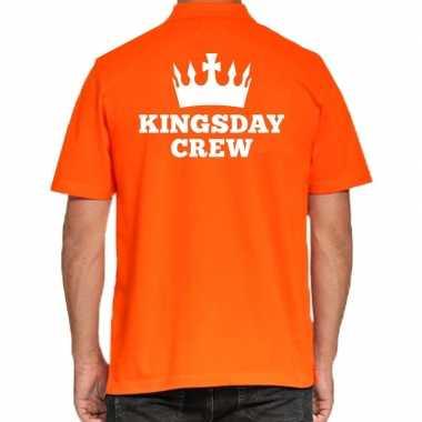 Koningsdag poloshirt kingsday crew heren