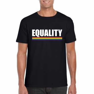 Lgbt shirt zwart equality heren