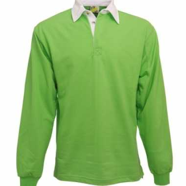 Lime poloshirt heren