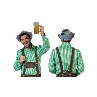 Oktoberfest groene geruite blouse heren shirt