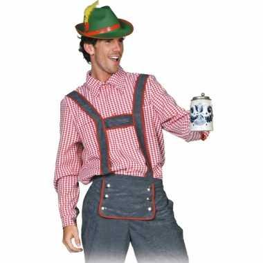 Oktoberfest Tiroler blouse heren shirt