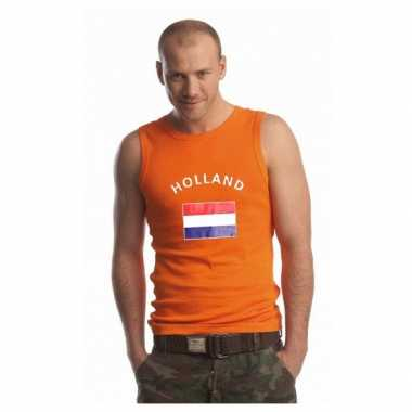 Oranje heren singlet holland shirt